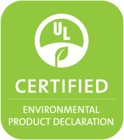 Environmental product declaration certified logo