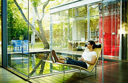 Ecolux window film allows you to enjoy lounging by your windows at home