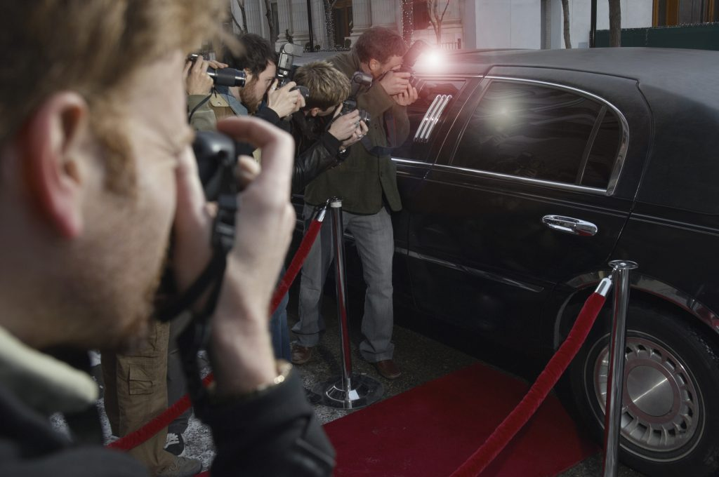 tinted window on car of famous person